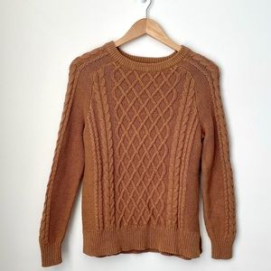 Cable Knit Camel Sweater from Old Navy